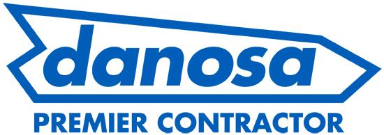 Danosa Logo on website homepage of Orbital Roofing in East Sussex