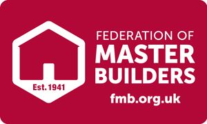 Federation of Master Builders Logo on website homepage of Orbital Roofing in East Sussex