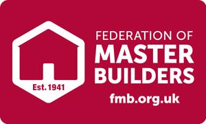 Federation of Master Builders Logo on website homepage of Orbital Roofing in East Sussex