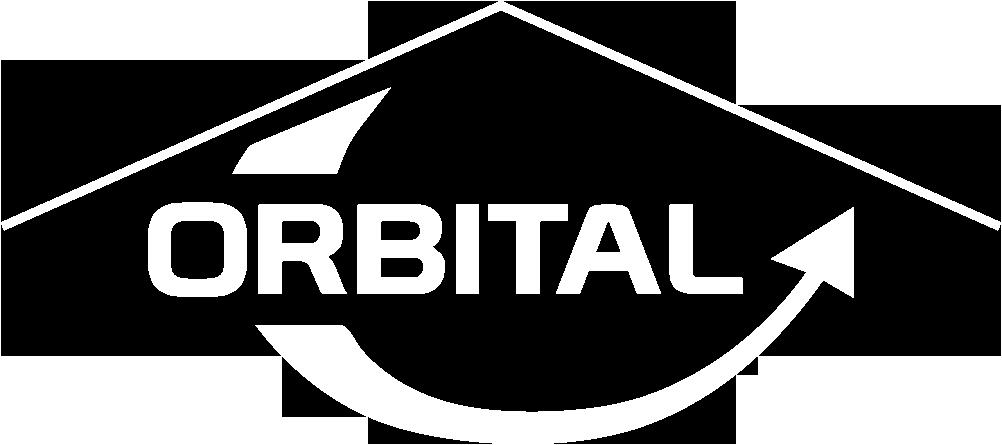 Orbital Logo on website homepage of Orbital Roofing in East Sussex