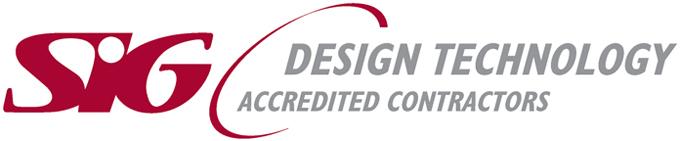 SIG Logo on website homepage of Orbital Roofing in East Sussex